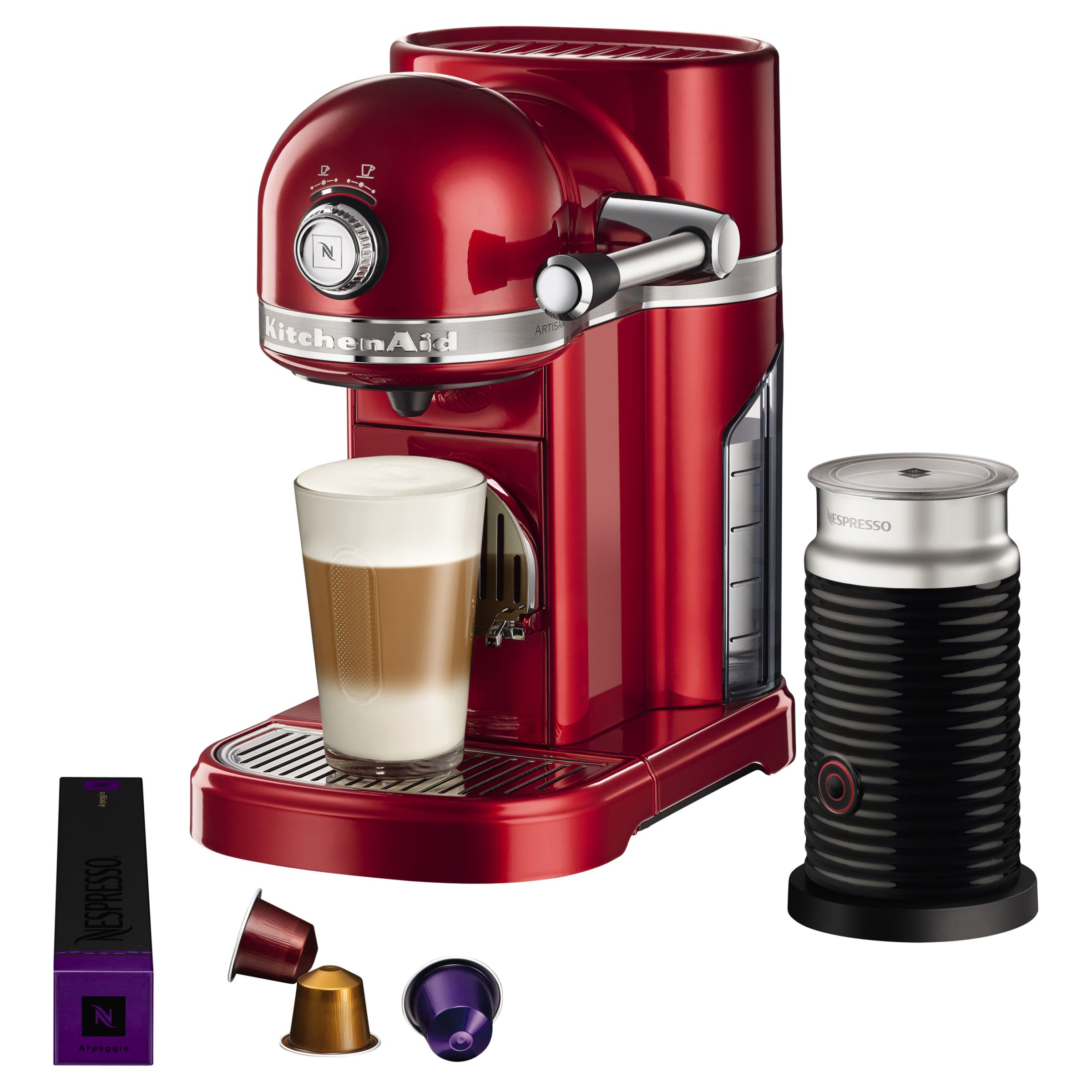 Italian Coffee Maker John Lewis : Buy Nespresso Artisan Coffee Machine with Aeroccino by KitchenAid John Lewis